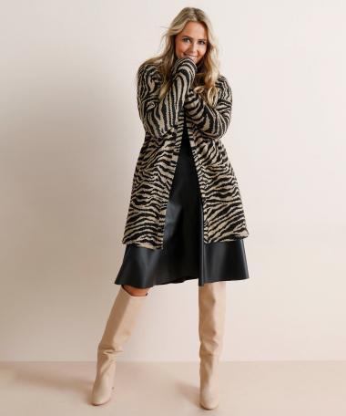 Vest met zebradessin